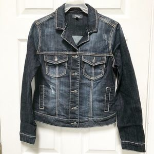 Silver Jeans Distressed Jean Jacket (NWOT)